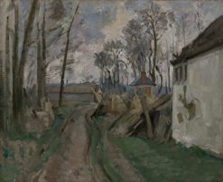 A Village Road near Auvers | Paul CEzanne | Oil Painting