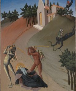 Saint Anthony Abbot Tormented by Demons | Sano di Pietro | Oil Painting