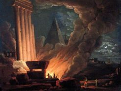The Funeral Pyre | Joseph Wright of Derby | Oil Painting