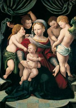 Madonna and Child with Four Cherubs | Bartholomaeus Bruyn the Elder | Oil Painting