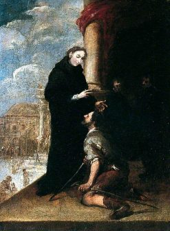 St Thomas of Villanueva Healing the Lame Man | BartolomE Esteban Murillo | Oil Painting