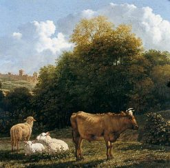 Landscape with Cattle | Carel Dujardin | Oil Painting