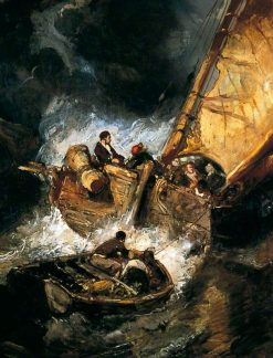 Boat in a Storm | Eugene Isabey | Oil Painting