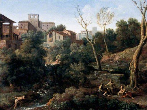 Campagna Landscape   Gaspard Dughet   Oil Painting