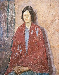 Young Woman in a Red Shawl | Gwen John | Oil Painting