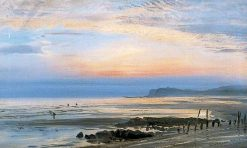 Coastal Scene with Shrimpers   Henry Moore   Oil Painting