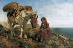 Italian Shepherdess on the Corniche near Nice | Henry Moore | Oil Painting