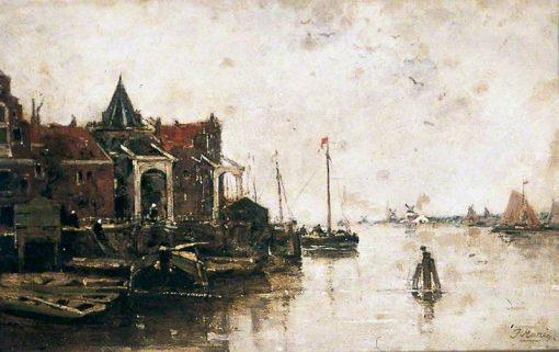 A Dutch Waterway | Jacob Maris | Oil Painting