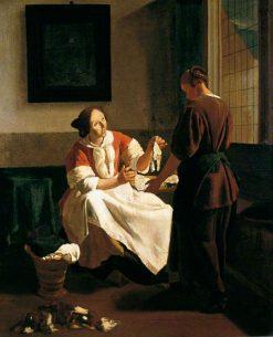 The Fish Seller | Jacob Ochtervelt | Oil Painting