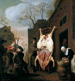 The Butcher's Shop | Jan Victors | Oil Painting
