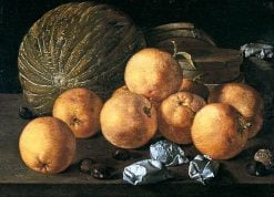 Still Life with Lemons and Nuts | Luis MelEndez | Oil Painting