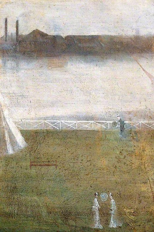 Japanese Figures on Chelsea Embankment | Walter Greaves | Oil Painting