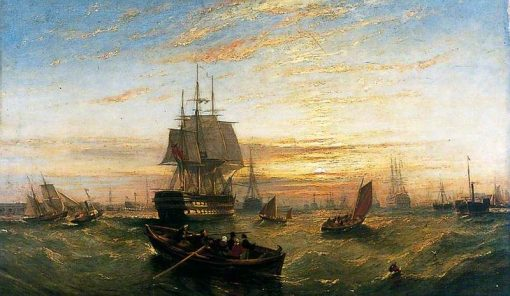 Entering Portsmouth Harbour | William Adolphus Knell | Oil Painting