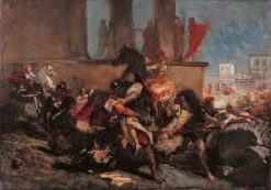 Rape of the Sabine Women | Eugene Delacroix | Oil Painting