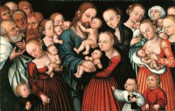 Christ Blessing the Children | Lucas Cranach the Elder | Oil Painting