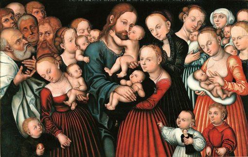 Christ Blessing the Children   Lucas Cranach the Elder   Oil Painting
