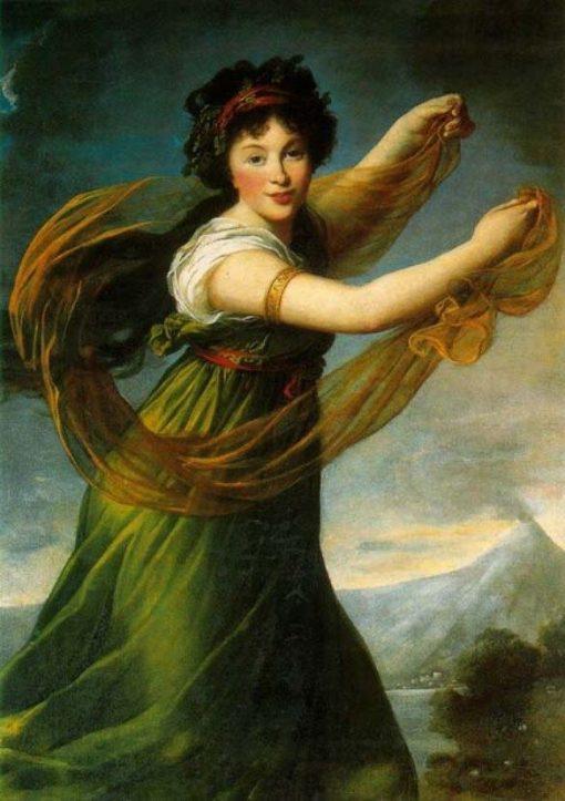 Portrait of Pelagie Sapiezyna nee Potocka | Elisabeth VigEe Lebrun | Oil Painting