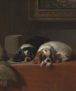 King Charles Spaniels The Cavalier's Pets - Sir Edwin Henry Landseer