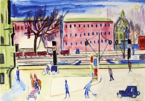 At the Spree | Ernst Ludwig Kirchner | Oil Painting