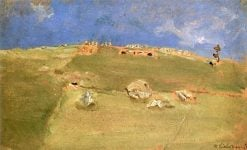 Hay Harvest in Tyrol | Max Liebermann | Oil Painting