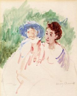 Study for Mother and Child in a Boat | Mary Cassatt | Oil Painting