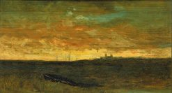 Sunset Scene | Edward Mitchell Bannister | Oil Painting