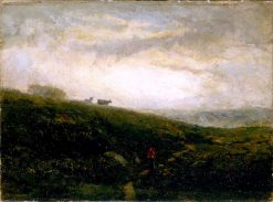 Cows Descending Hillside | Edward Mitchell Bannister | Oil Painting