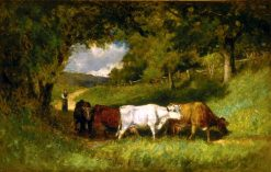 Driving Home the Cows | Edward Mitchell Bannister | Oil Painting