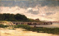Landscape with Pier | Edward Mitchell Bannister | Oil Painting