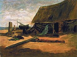 Fishing Shacks | Edward Mitchell Bannister | Oil Painting