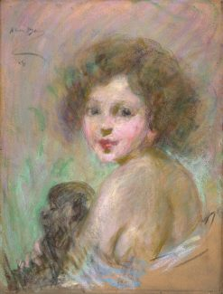 Child with Monkey | Alice Pike Barney | Oil Painting