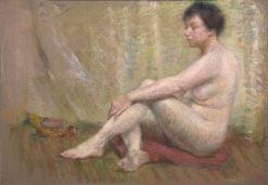 Between Poses | Alice Pike Barney | Oil Painting