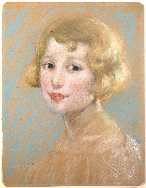 Blond Girl   Alice Pike Barney   Oil Painting
