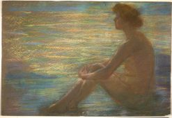 Nude against Sea | Alice Pike Barney | Oil Painting