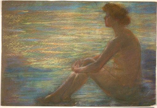 Nude against Sea | Alice Pike Barney | Oil Painting