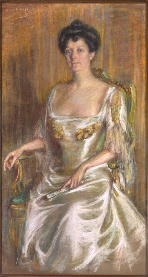 Lady with Fan | Alice Pike Barney | Oil Painting