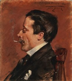 Man with Cigarette | Alice Pike Barney | Oil Painting