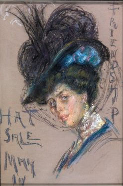 Hat Sale Poster | Alice Pike Barney | Oil Painting