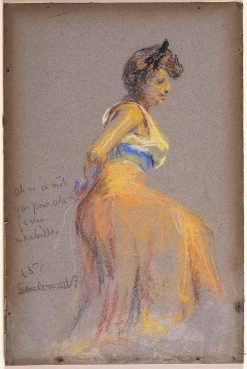 Model in Yellow | Alice Pike Barney | Oil Painting