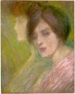 Two Faces   Alice Pike Barney   Oil Painting