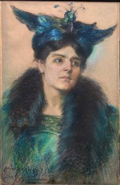 Marianne with Hat | Alice Pike Barney | Oil Painting
