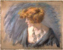 Tatian Hair   Alice Pike Barney   Oil Painting