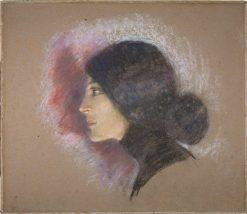 Vamp of 1900 (Lottie Stein)   Alice Pike Barney   Oil Painting