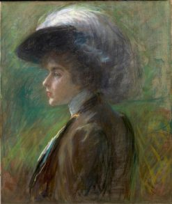 The Feathered Hat | Alice Pike Barney | Oil Painting