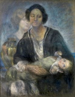 Italian Woman with Child | Alice Pike Barney | Oil Painting