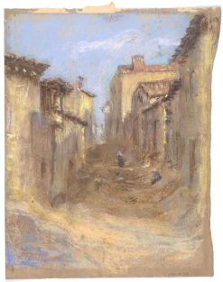 Village Street | Alice Pike Barney | Oil Painting
