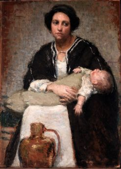 Mother and Sleeping Baby | Alice Pike Barney | Oil Painting