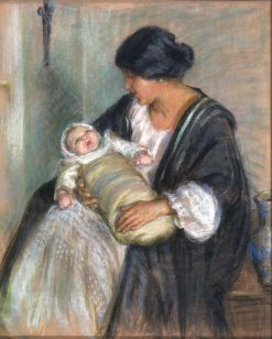 Mother and Crying Baby | Alice Pike Barney | Oil Painting