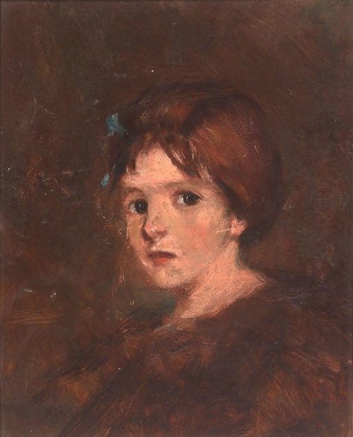 Child in Browns | Alice Pike Barney | Oil Painting