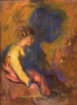 The Shadow   Alice Pike Barney   Oil Painting
